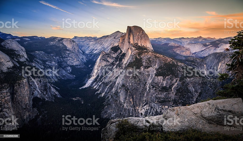 Sunset From Glacier Point stock photo