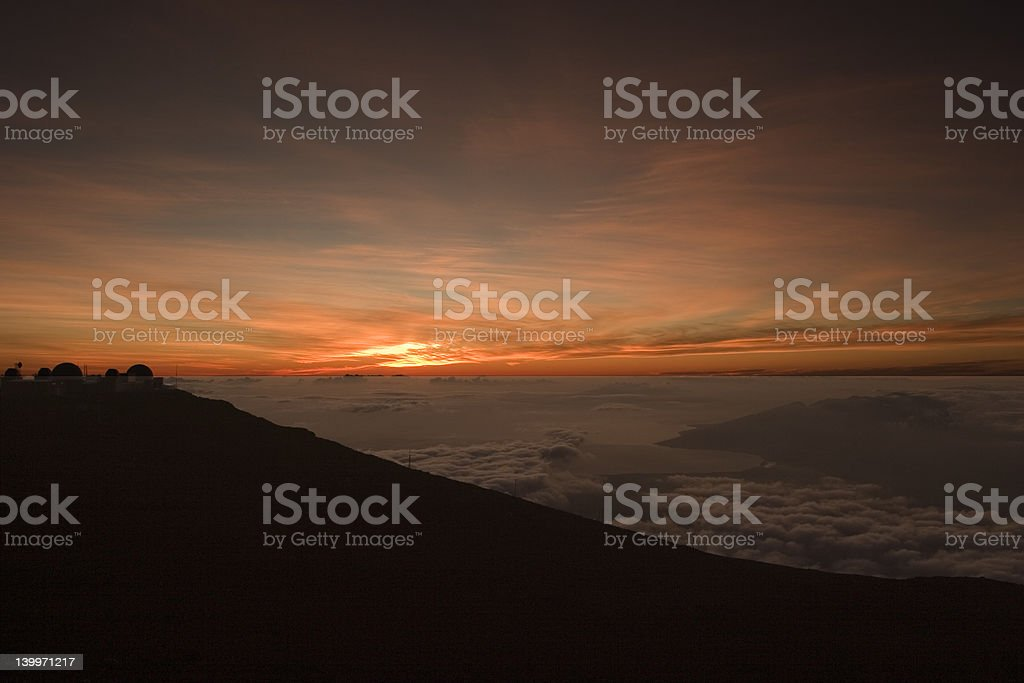 Sunset from Haleakala royalty-free stock photo