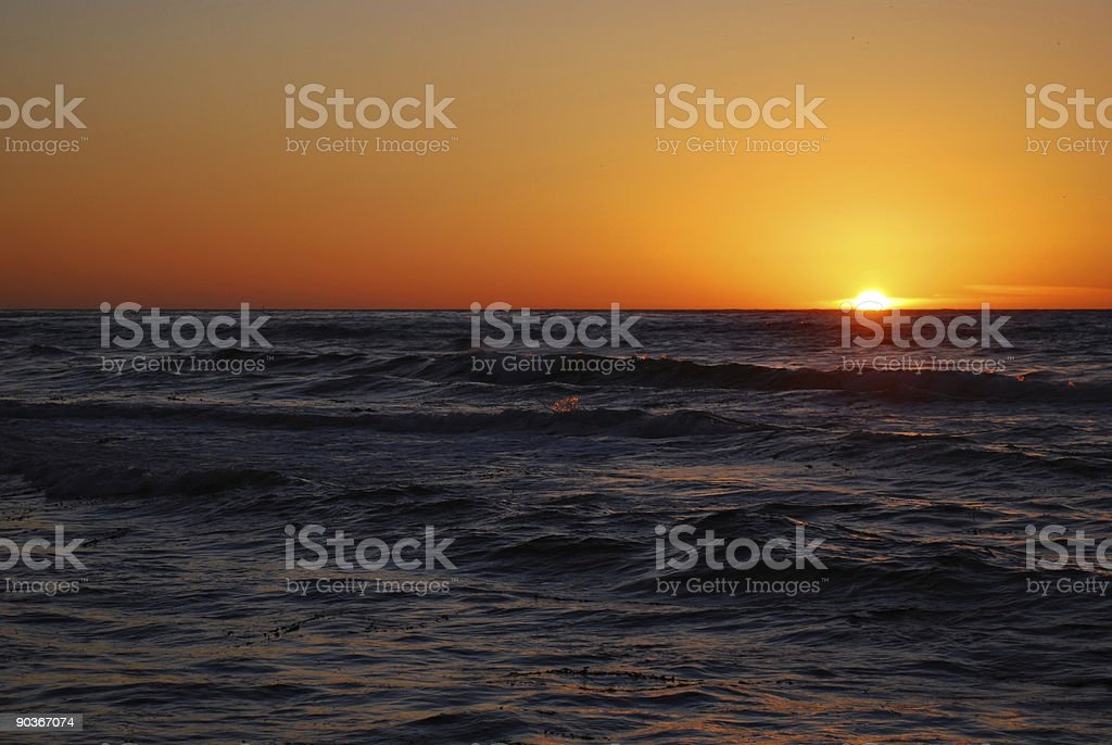 Sunset from Malaga Cove royalty-free stock photo