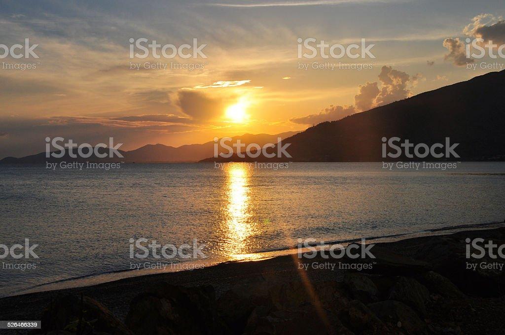 Sunset From Mersin stock photo