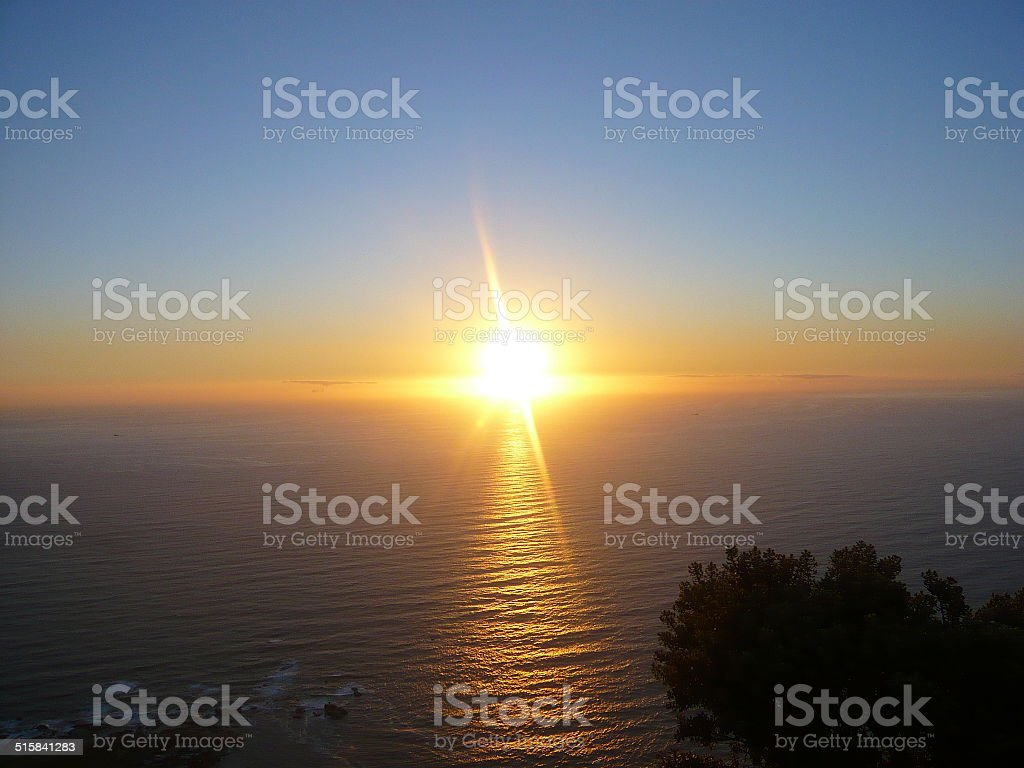 sunset from mountain royalty-free stock photo
