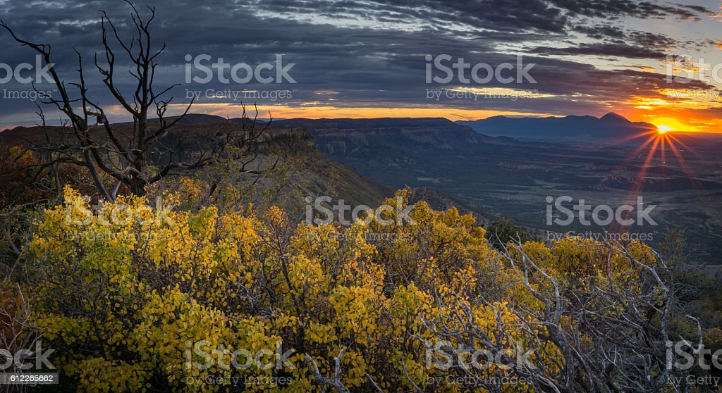 Sunset From Point Lookout stock photo