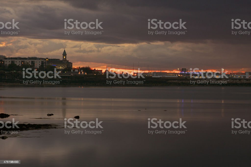 Sunset from Sandycove in Dublin stock photo