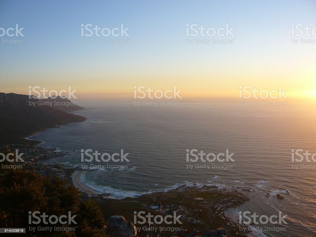 Sunset from Table Mountain royalty-free stock photo