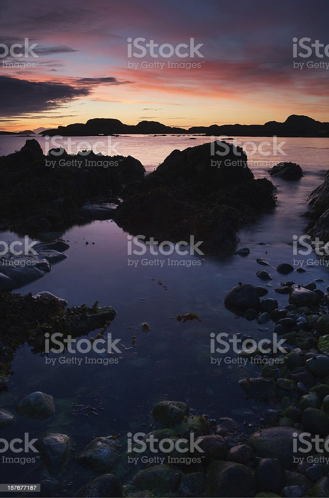 Sunset from the Isle of Iona royalty-free stock photo