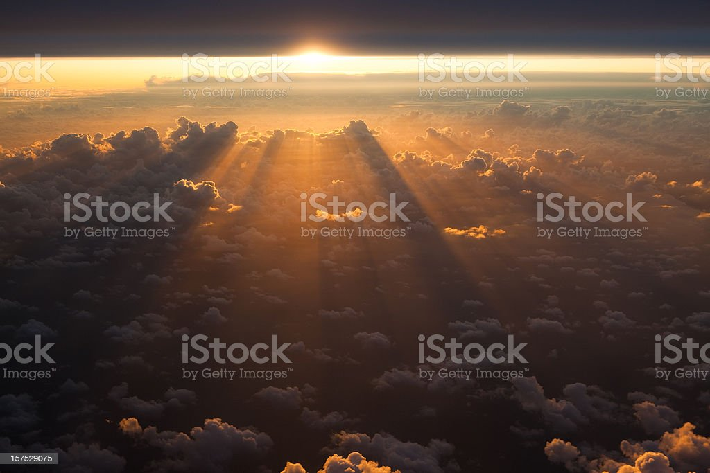 Sunset from the sky royalty-free stock photo