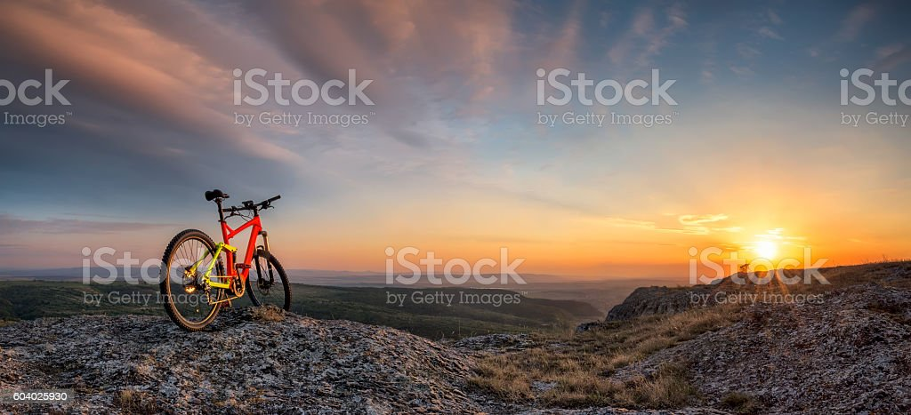 Sunset from the top stock photo