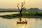 Sunset from u bein bridge, Myanmar