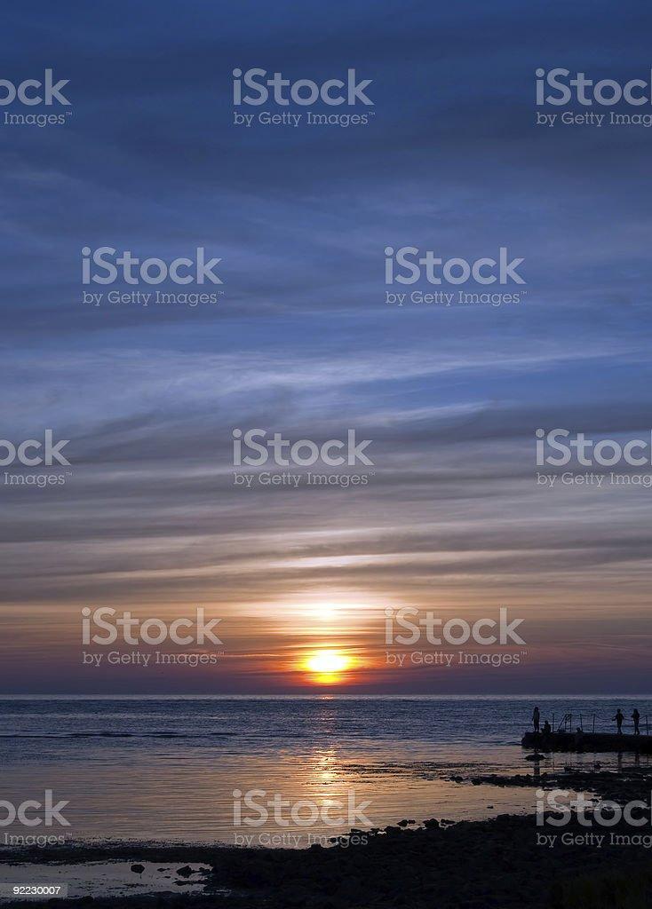 sunset gathering royalty-free stock photo