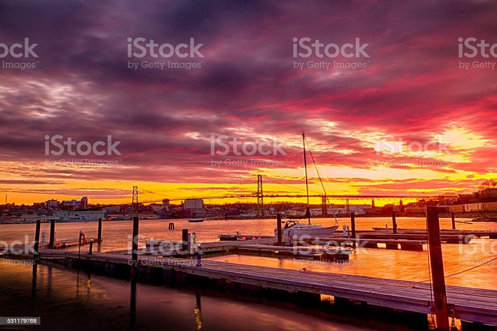 Sunset Glory in Halifax, Nova Scotia stock photo