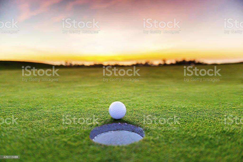 Sunset Golf stock photo