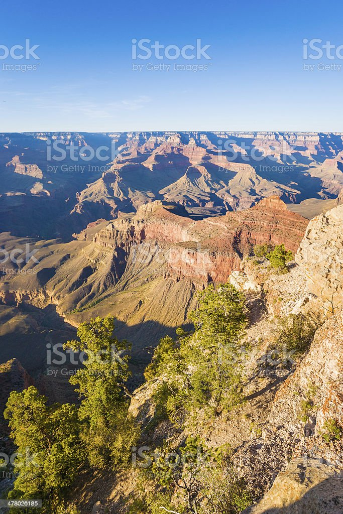 Sunset Grand Canyon, South Rim, National Park in Arizona, USA royalty-free stock photo