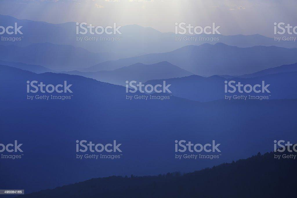 Sunset, Great Smoky Mountains stock photo