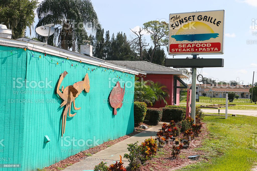Sunset Grille - Sebring stock photo