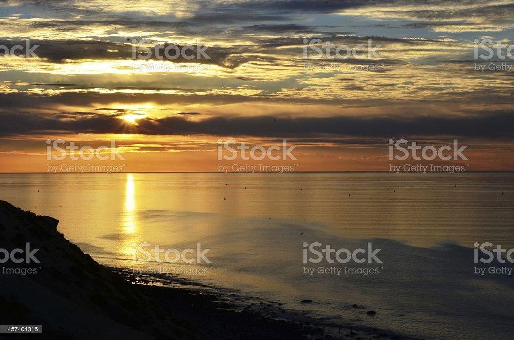 Sunset, Hallett Cove, Adelaide South Australia stock photo