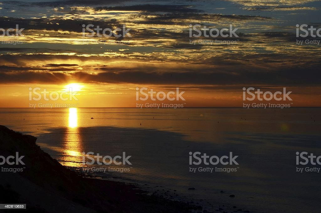 Sunset, Hallett Cove Beach stock photo