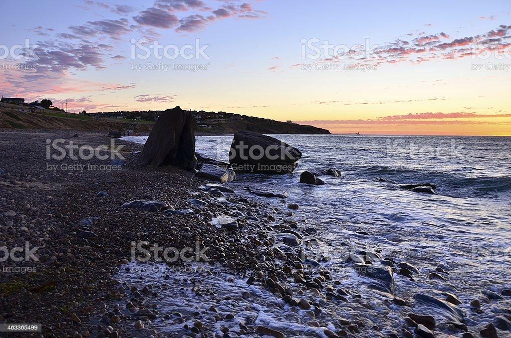 Sunset, Hallett Cove, South Australia stock photo