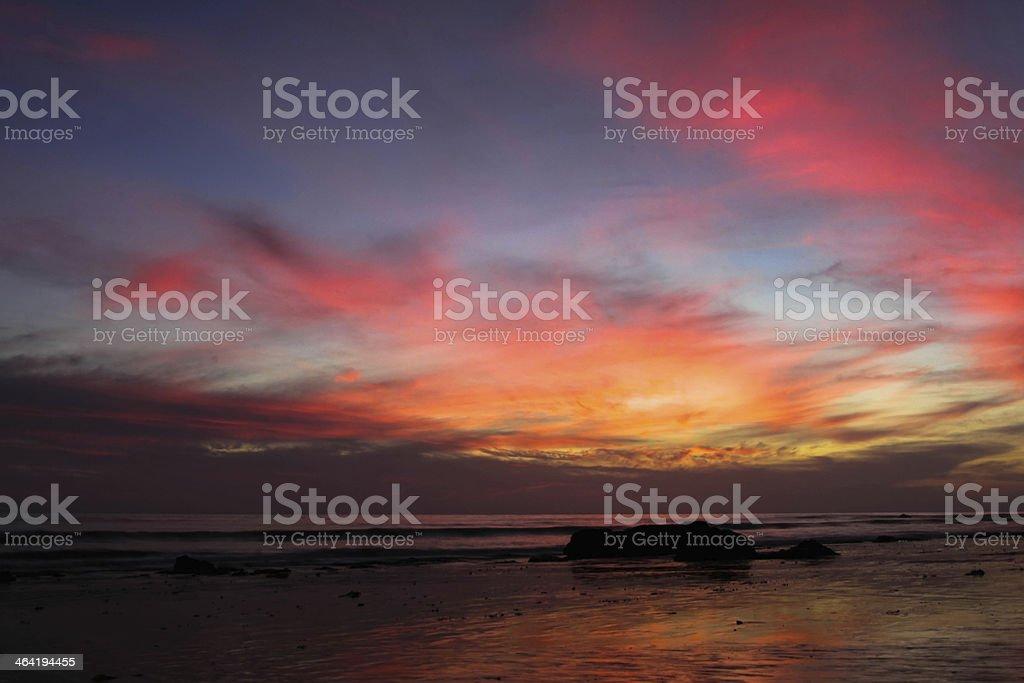 Sunset Handry's Beach royalty-free stock photo
