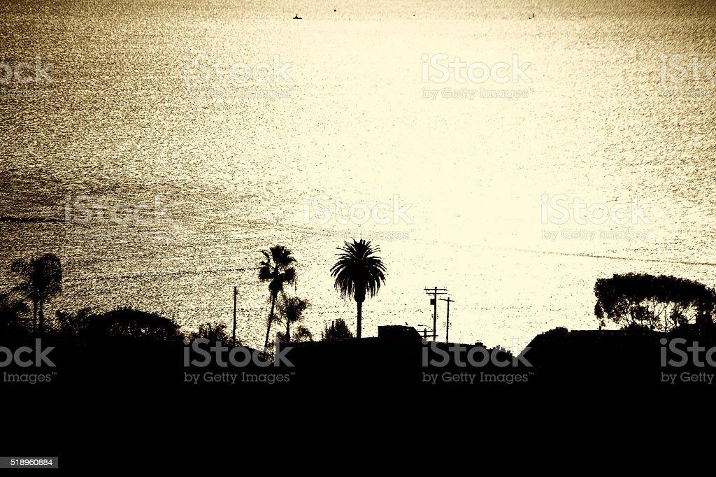 Sunset Harbor Los Angeles stock photo