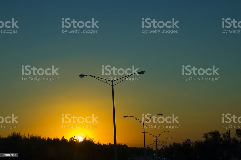 Sunset Highway royalty-free stock photo