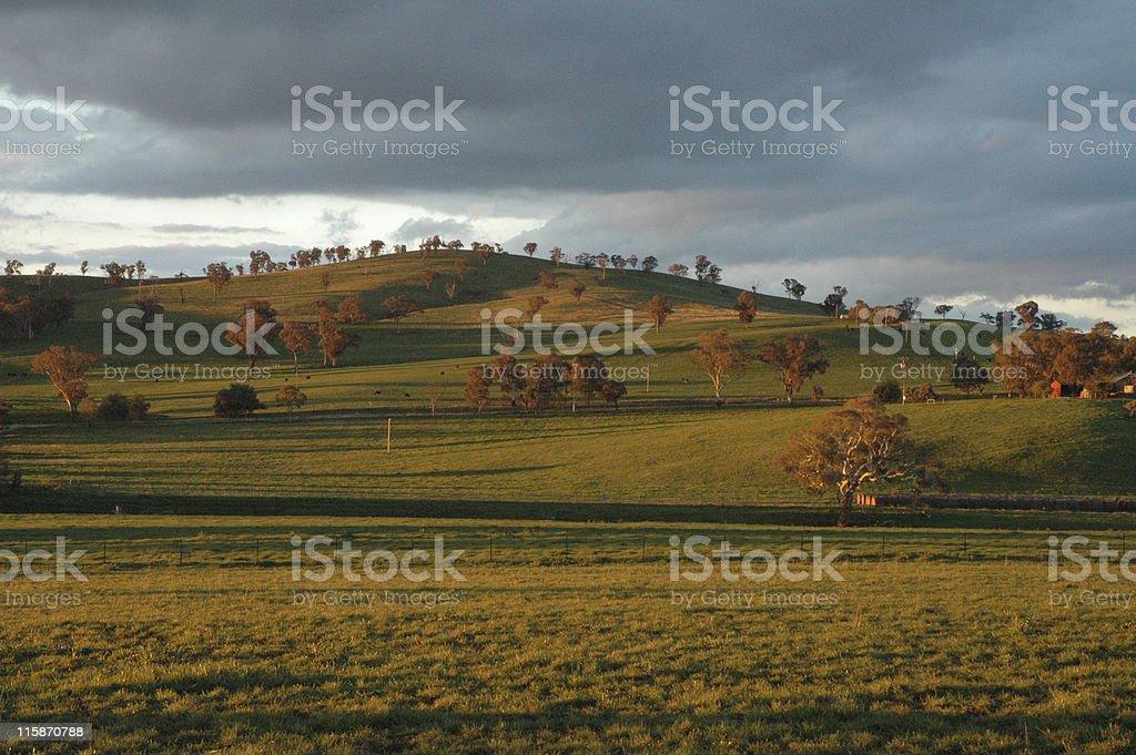 Sunset hills royalty-free stock photo