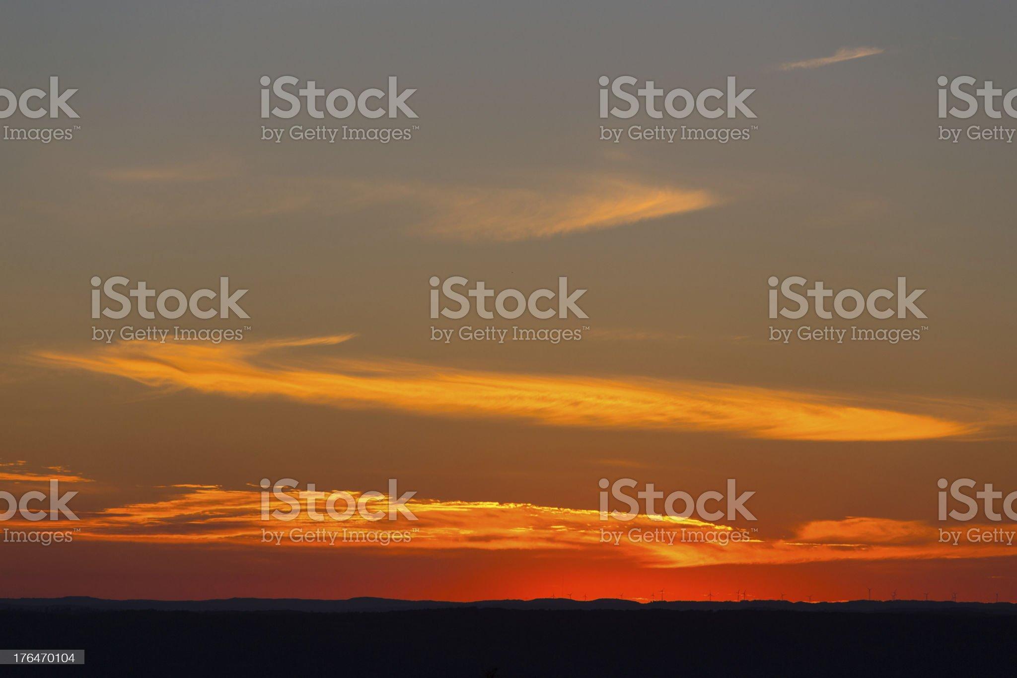 Sunset Horizon royalty-free stock photo
