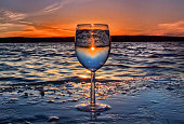 Sunset in a wine glass