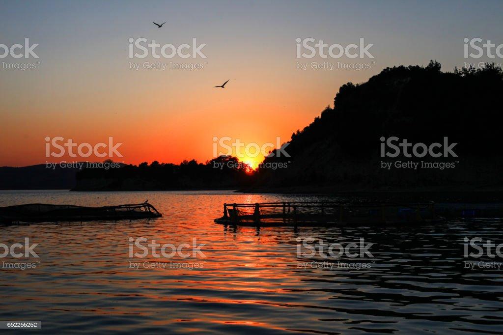 Sunset in Adana stock photo