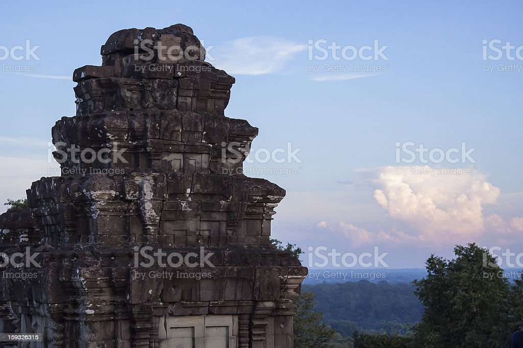 Sunset in Angkor royalty-free stock photo