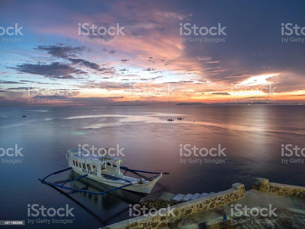 Sunset in Anilao, Philippines stock photo