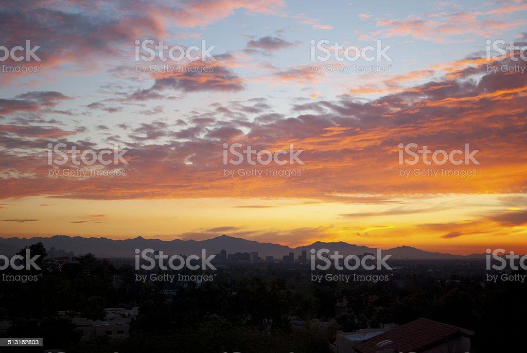 Sunset in Arizona stock photo