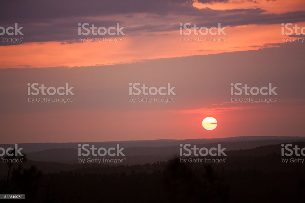Sunset in Arizona stock photo