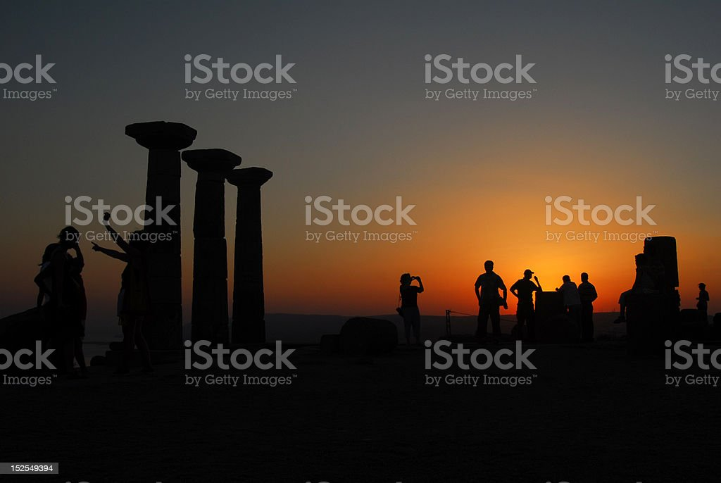 sunset in Assos royalty-free stock photo