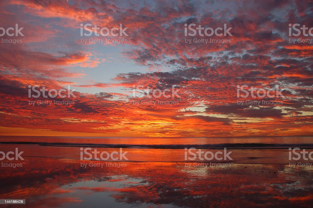 Sunset in Australia royalty-free stock photo