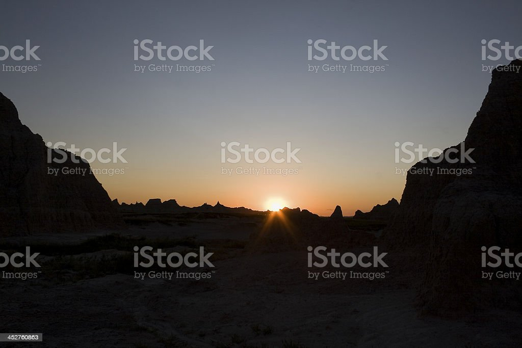 Sunset In Badlands royalty-free stock photo