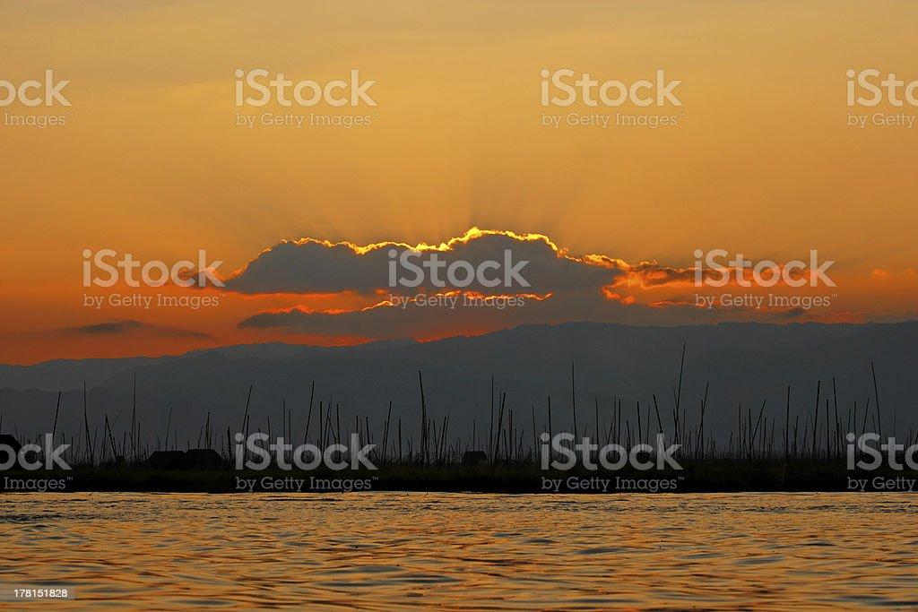 Sunset in Bagan. royalty-free stock photo