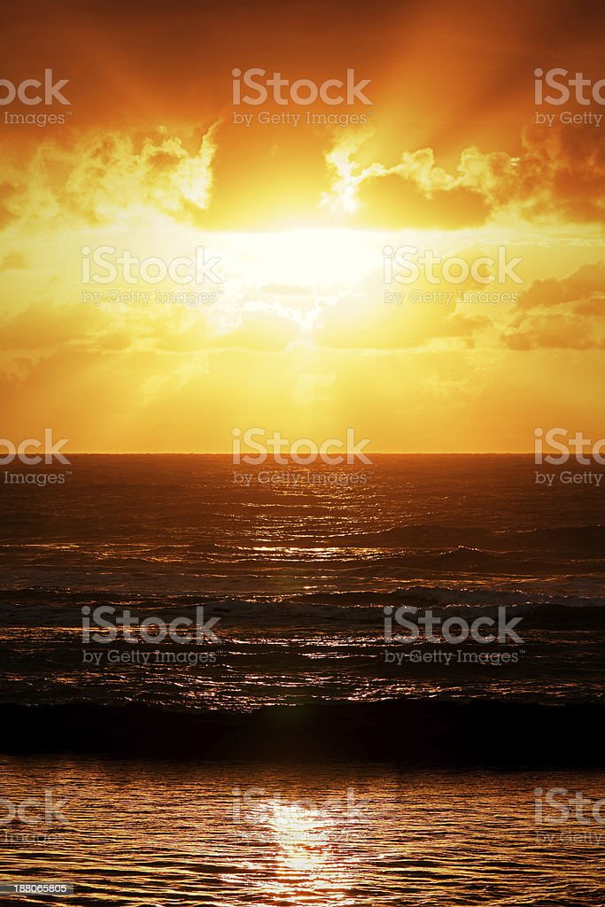 Sunset in Bahia - Brazil stock photo