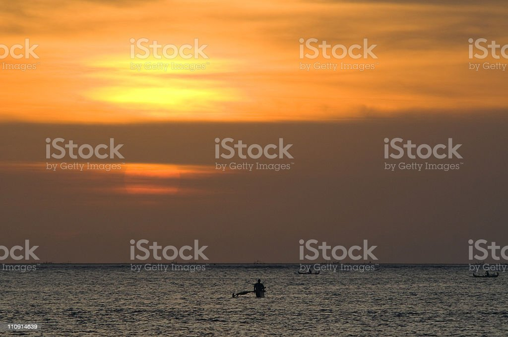 Sunset in Bali royalty-free stock photo