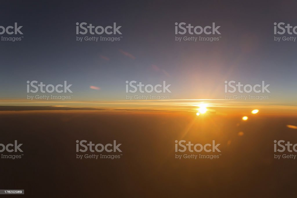 Sunset in Boston royalty-free stock photo