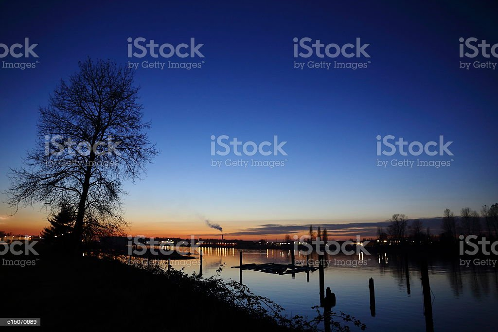 Sunset in British Colombia stock photo