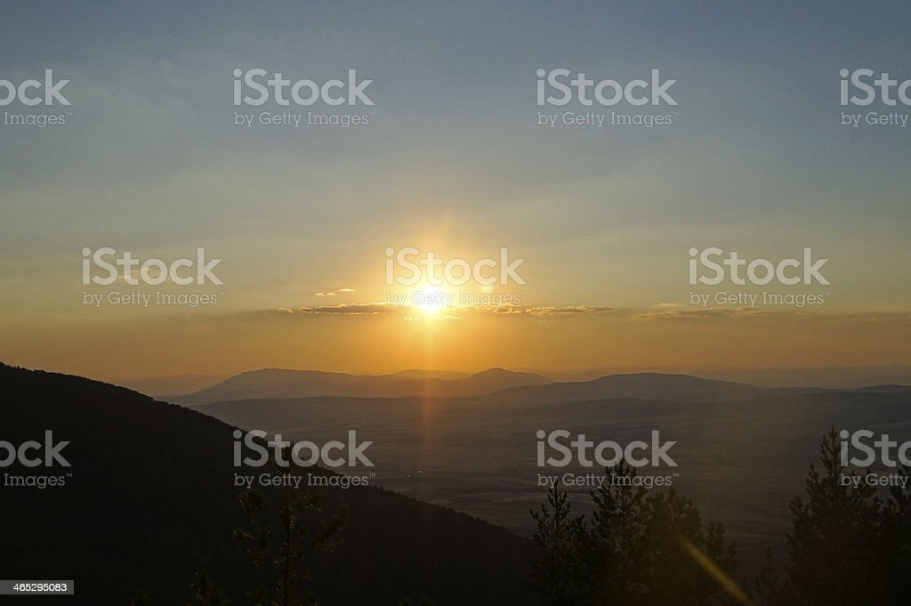 Sunset in Bulgaria royalty-free stock photo