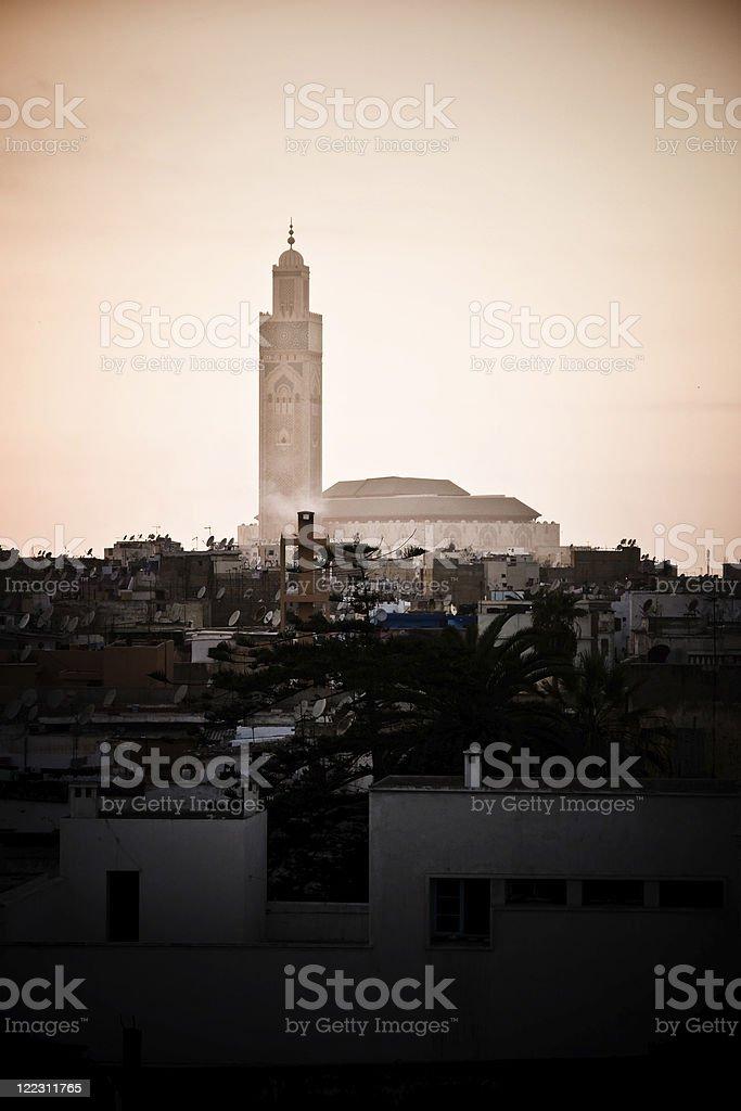 Sunset in Casablanca royalty-free stock photo