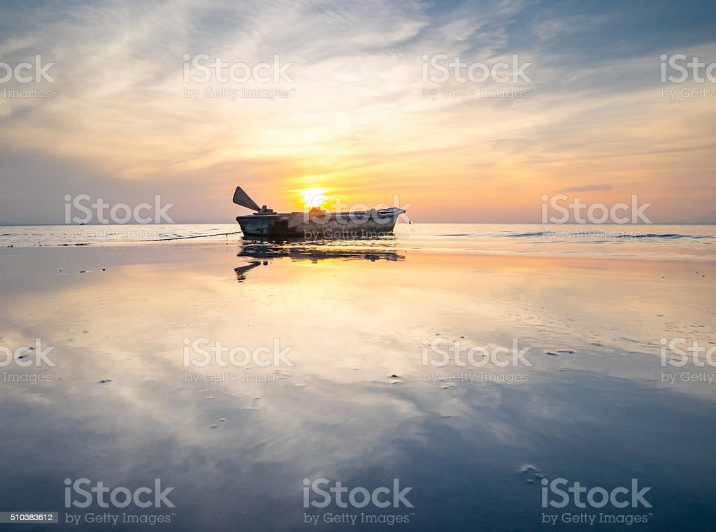 Sunset in Central America royalty-free stock photo