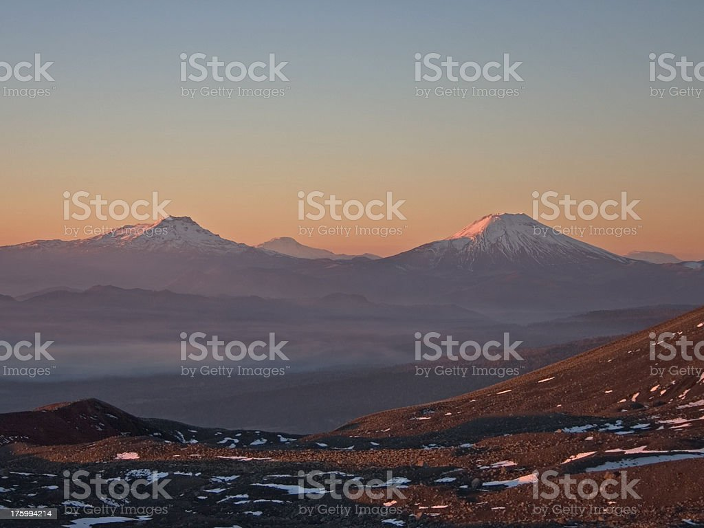 Sunset in Chile royalty-free stock photo