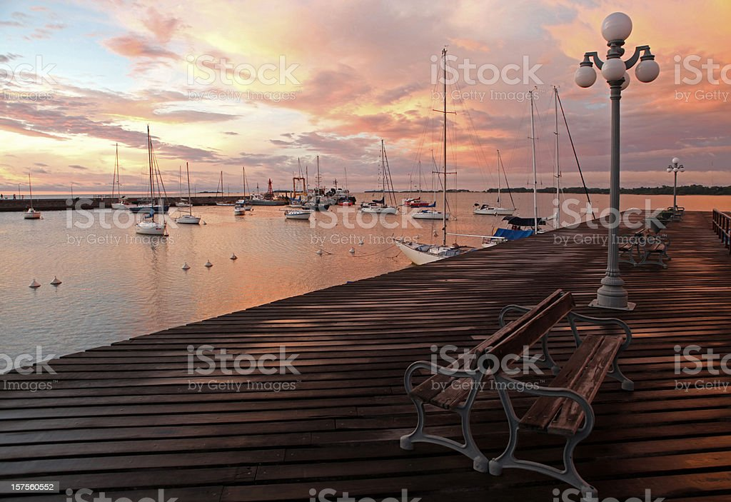 Sunset in Colonia del Sacramento,Uruguay royalty-free stock photo