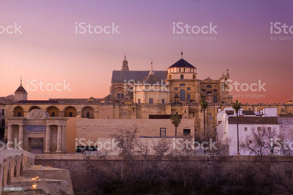 Sunset in Cordoba, Andalusia, Spain royalty-free stock photo