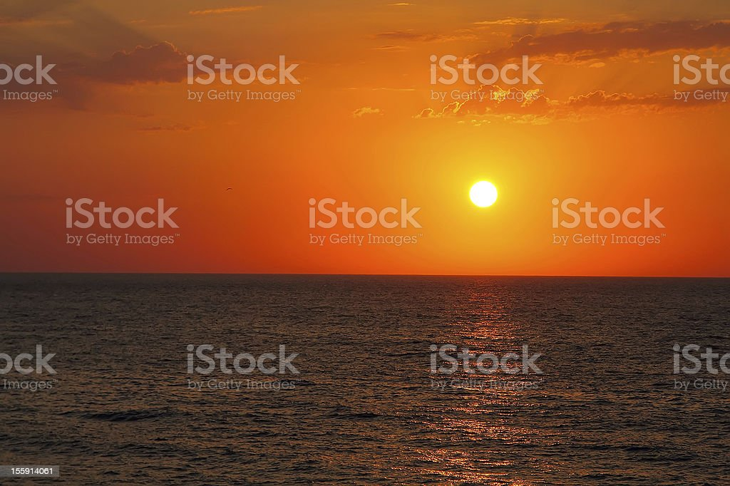 Sunset in Crimea royalty-free stock photo