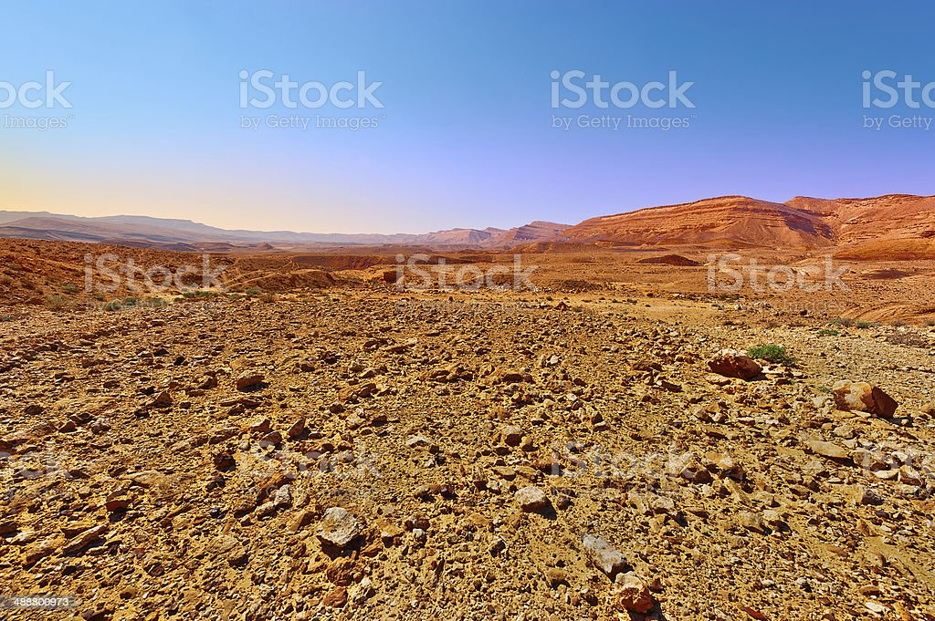 Sunset, in Desert stock photo