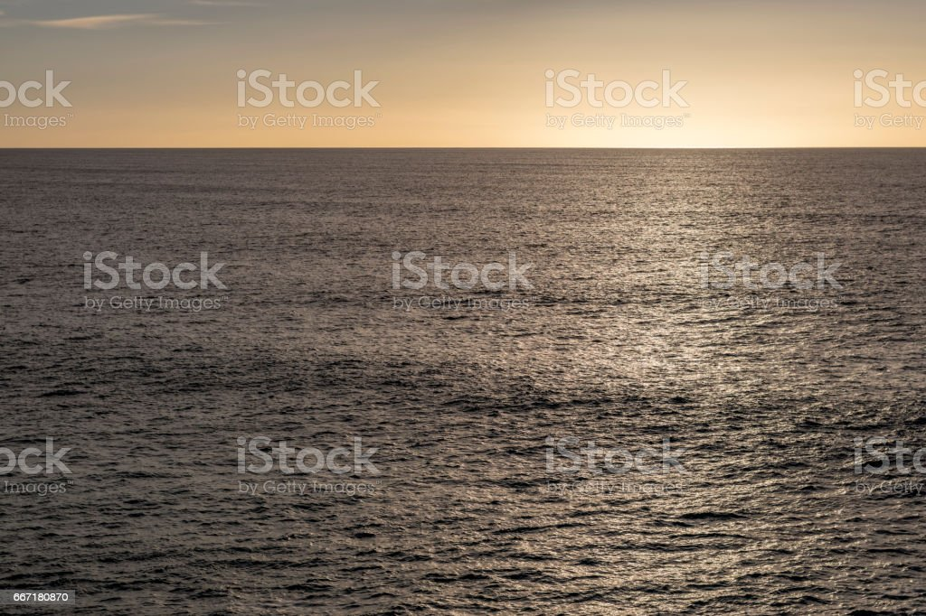 Sunset in El Cotillo stock photo