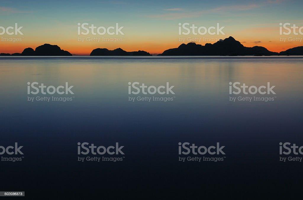 Sunset in El Nido royalty-free stock photo